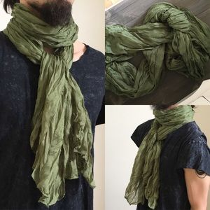 NEW Green Long Styled Scarf